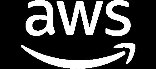 Image of Aws logo white