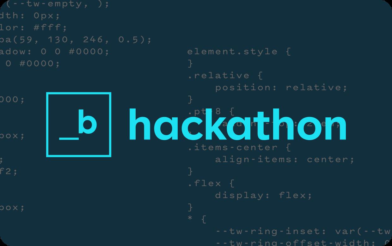 Image of B hackathon graphic
