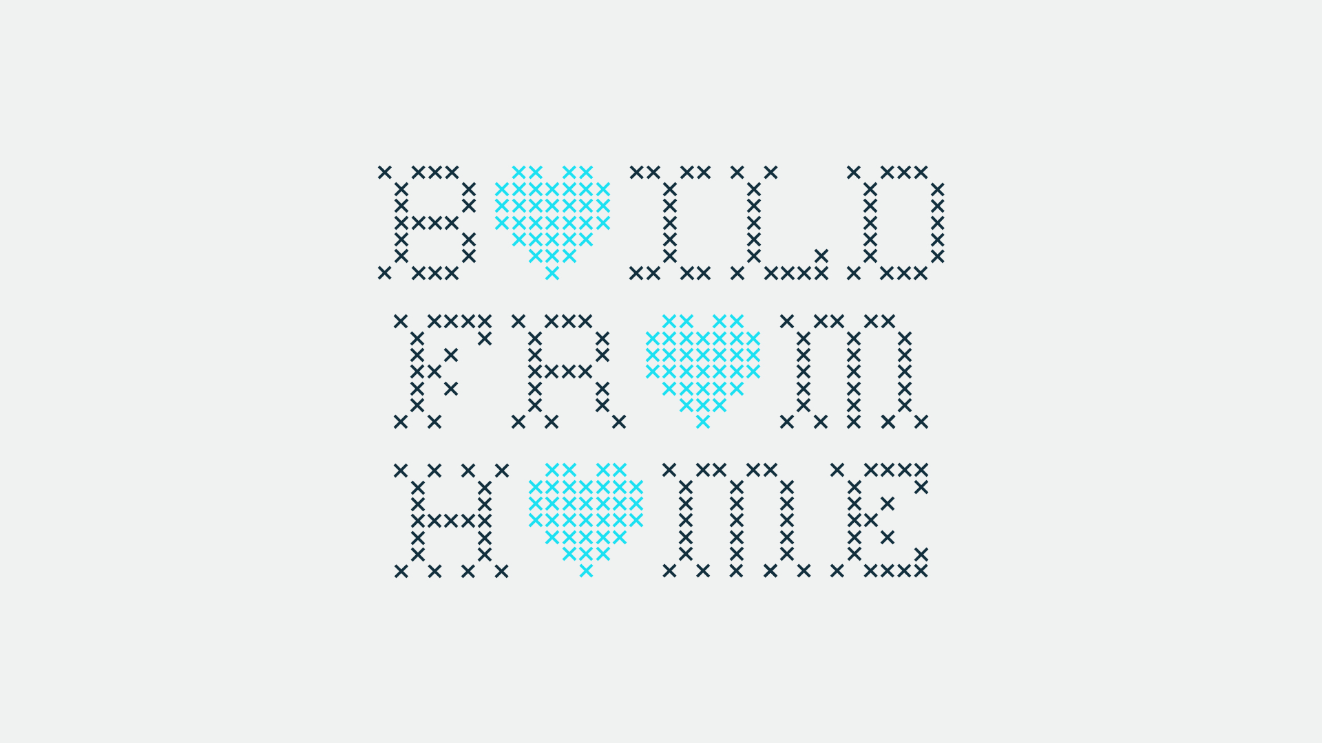 Build From Home cross stitch.