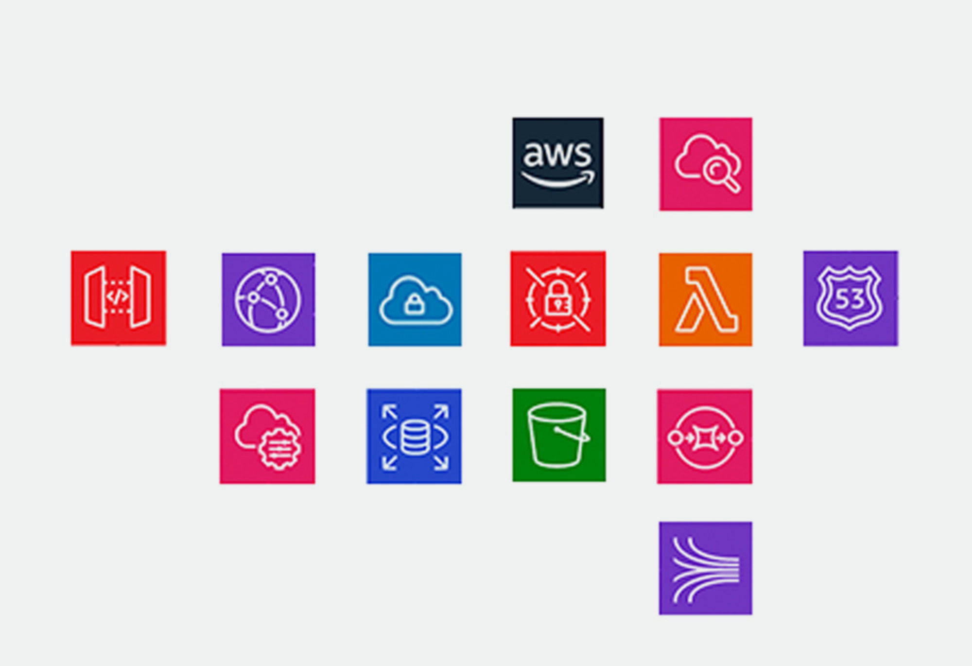 A variety of brightly colored app icons.
