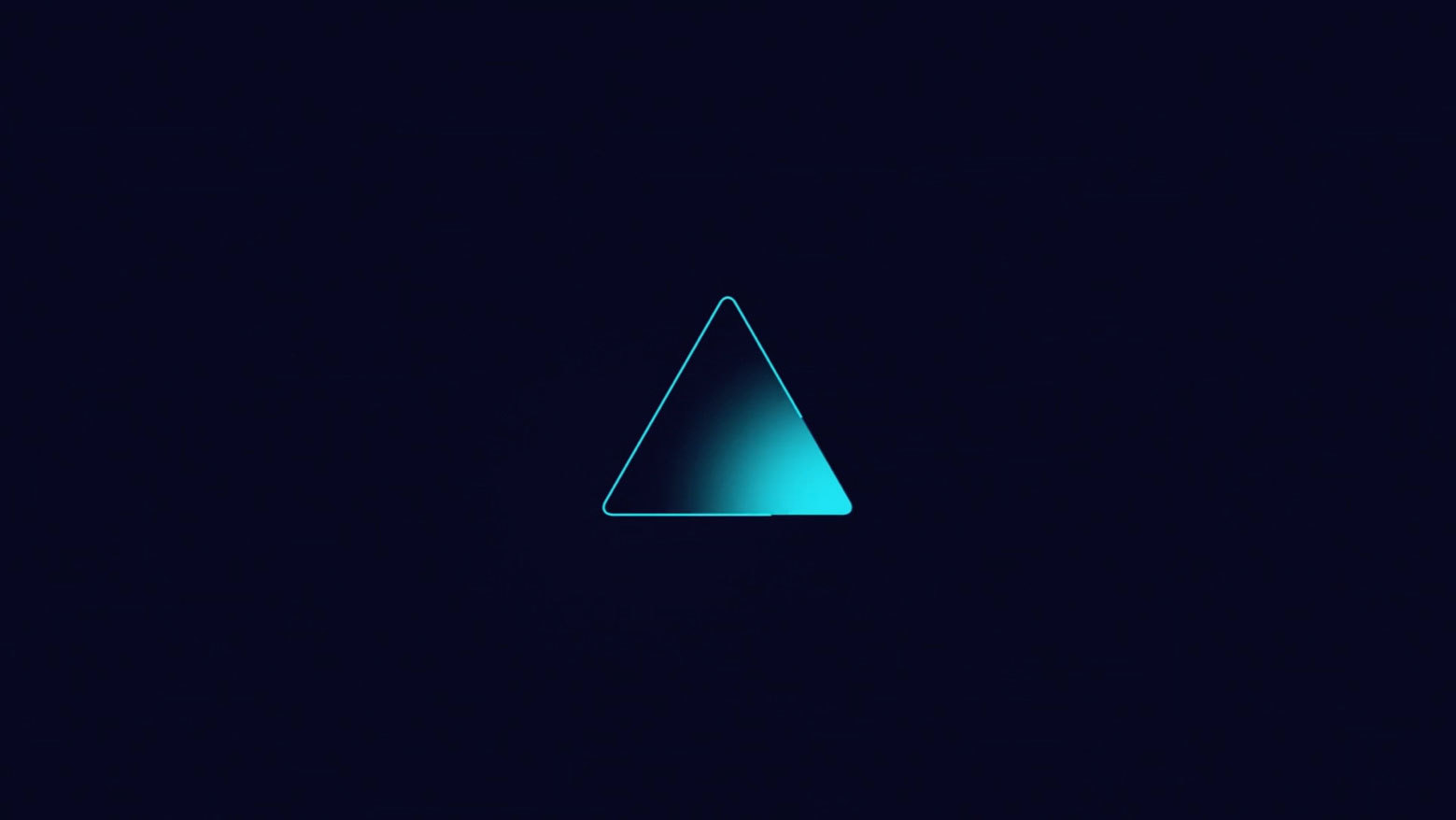 Video still from Slalom Build Explainer vid, cyan triangle with gradation in lower right corner.