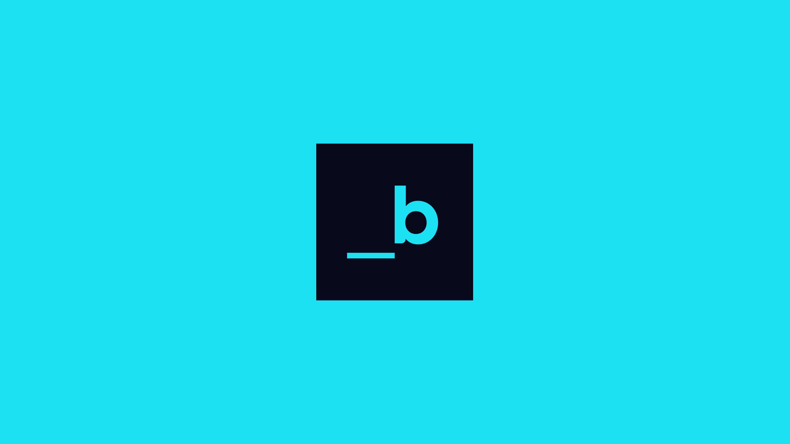 Slalom Build logo b on cyan.